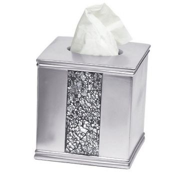 Silver Bling Bath Tissue Box Cover  We Don't Sneeze At The Bling Extraordinary Bathroom Tissue Decorating Inspiration