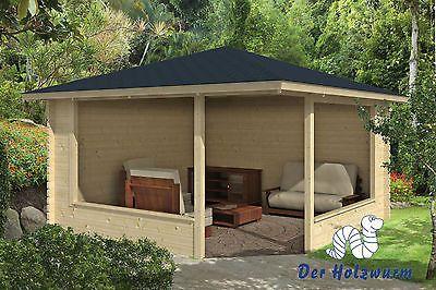 Gartenhaus Marit Blockhaus 400x400 cm Holzhaus 44 mm