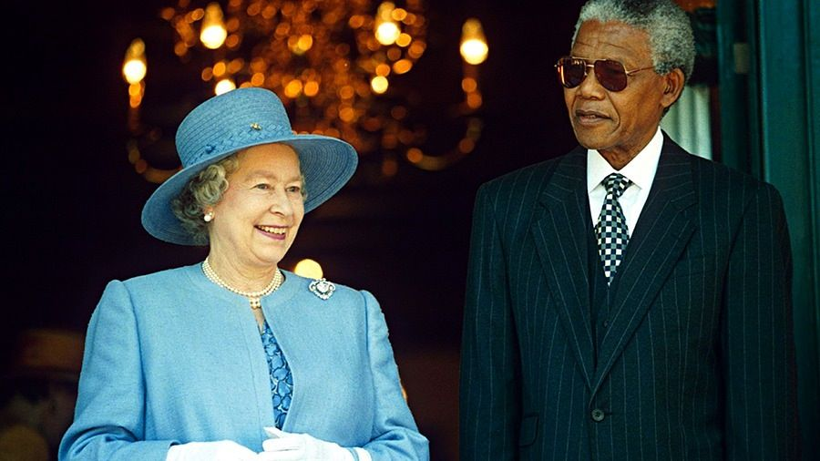 Image result for queen elizabeth II nelson mandela 1995 south africa