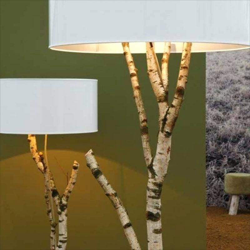 Birch Tree Floor Lamp Fa 1 4 R Die In Lamp Diy Birch Tree