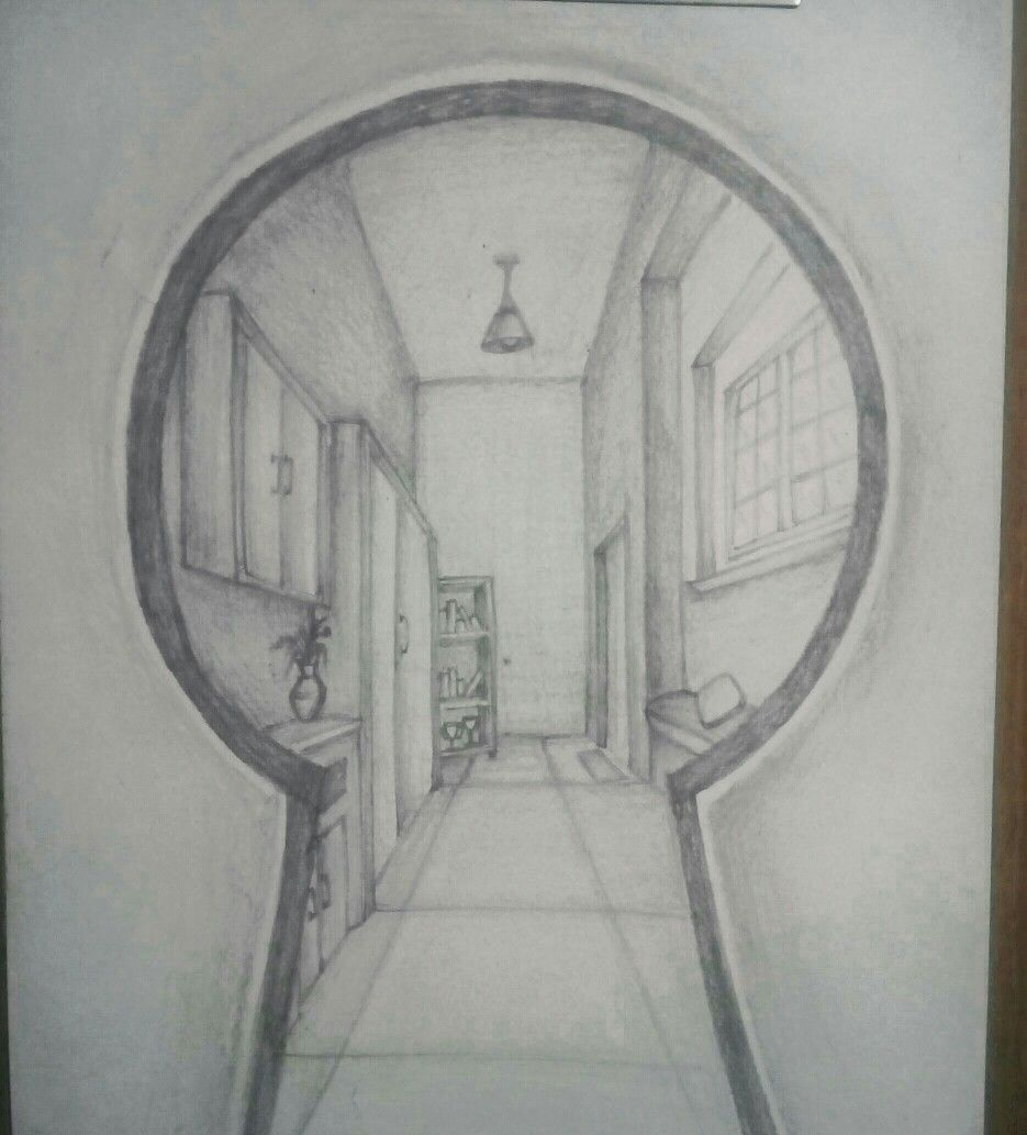 Nata Key Hole View Perspective Drawing Architecture Perspective Drawing Perspective Sketch