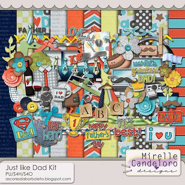 $6.99 Just like Dad Kit by Mirelle Candeloro - PU/S4H/S4O ok
