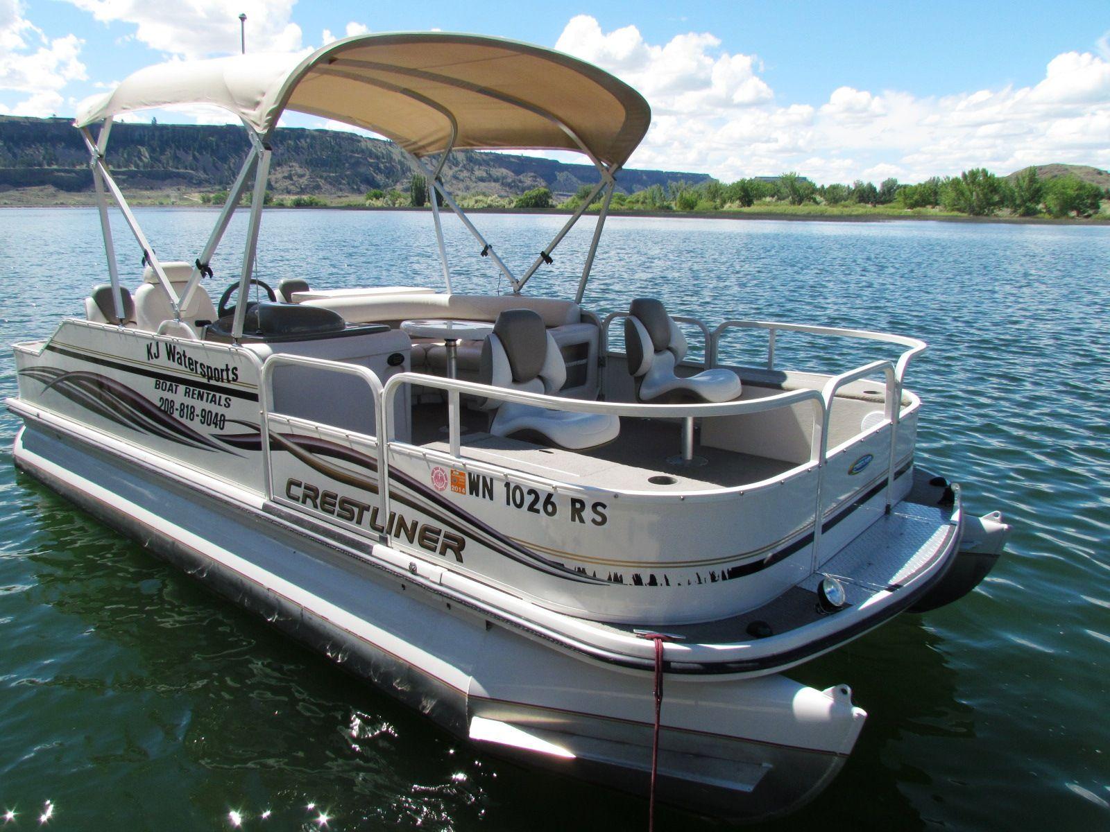 12 person crestliner pontoon boat pontoon boats for Fishing pontoon boats