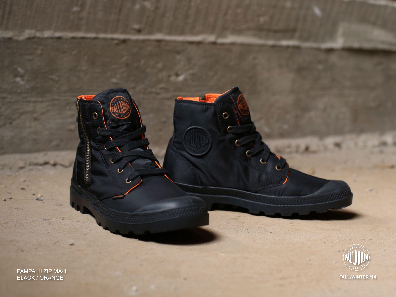 Pin on FW14 Alpha Industries x Palladium Boots