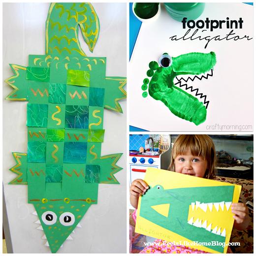 Creative Alligator Crocodile Crafts For Kids Crafty Morning