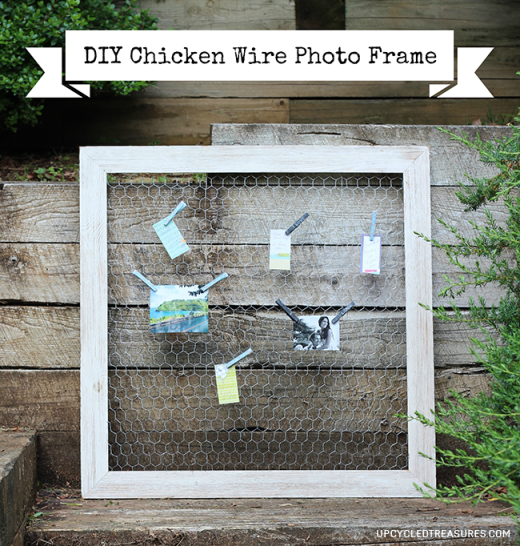 diy-chicken-wire-frame-upcycled-treasures   Share Today\'s Craft and ...