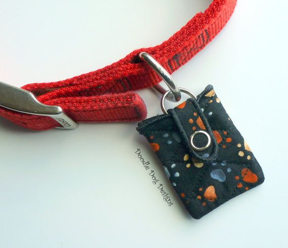 This Is A Neat Idea Quilted Pouch To Go Around Your Dog S Tag
