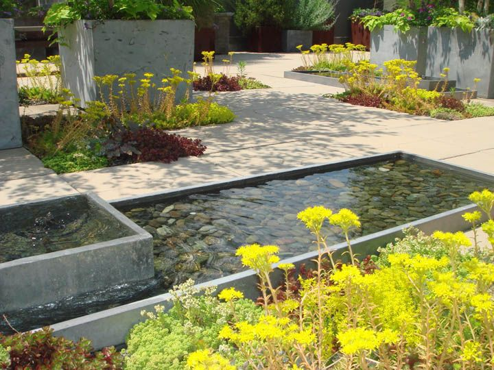 Rooftops Rebecca Cole Grows Garden Water Fountains