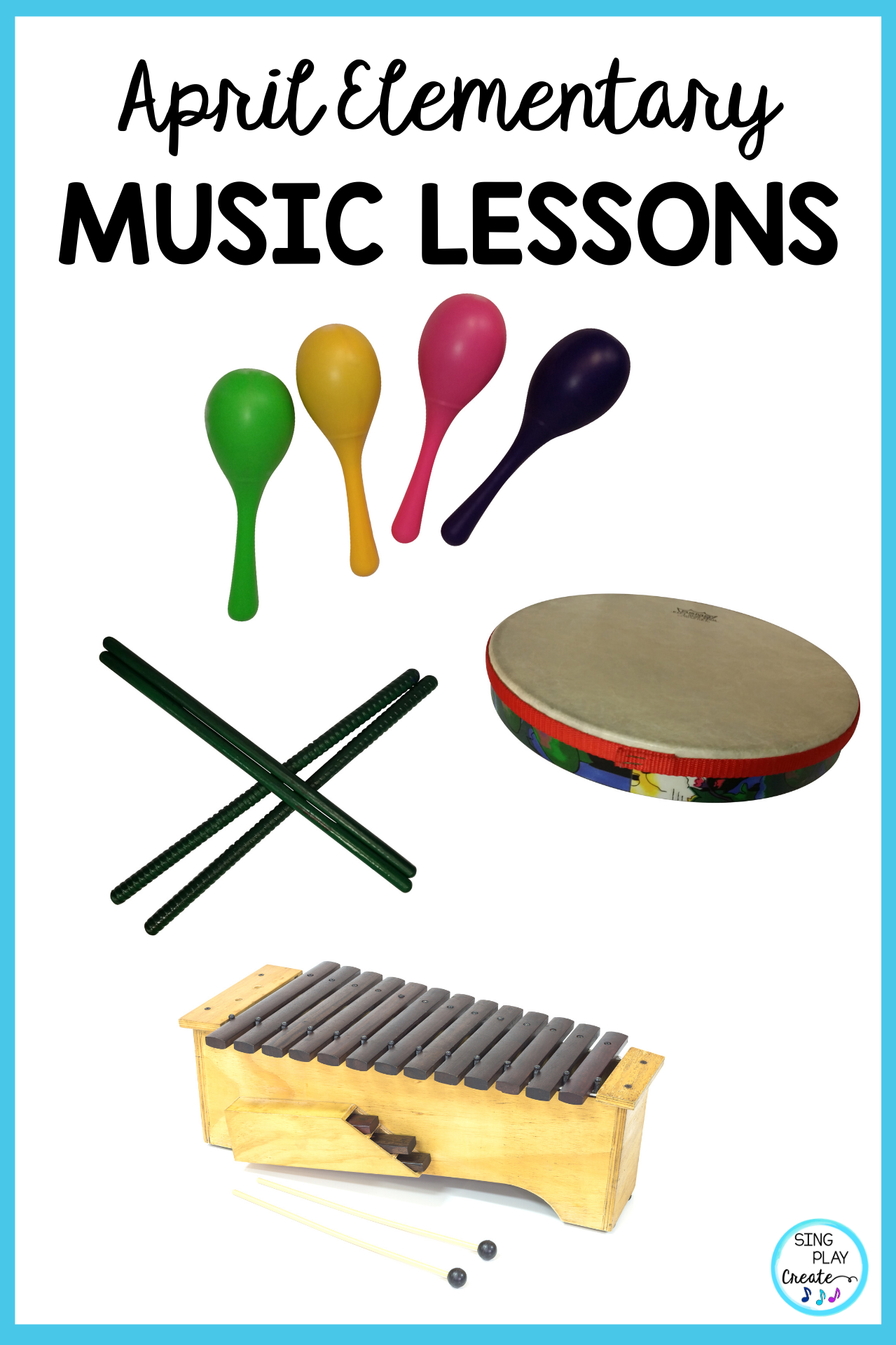 April Spring Music Lesson Bundle Songs Games Activities