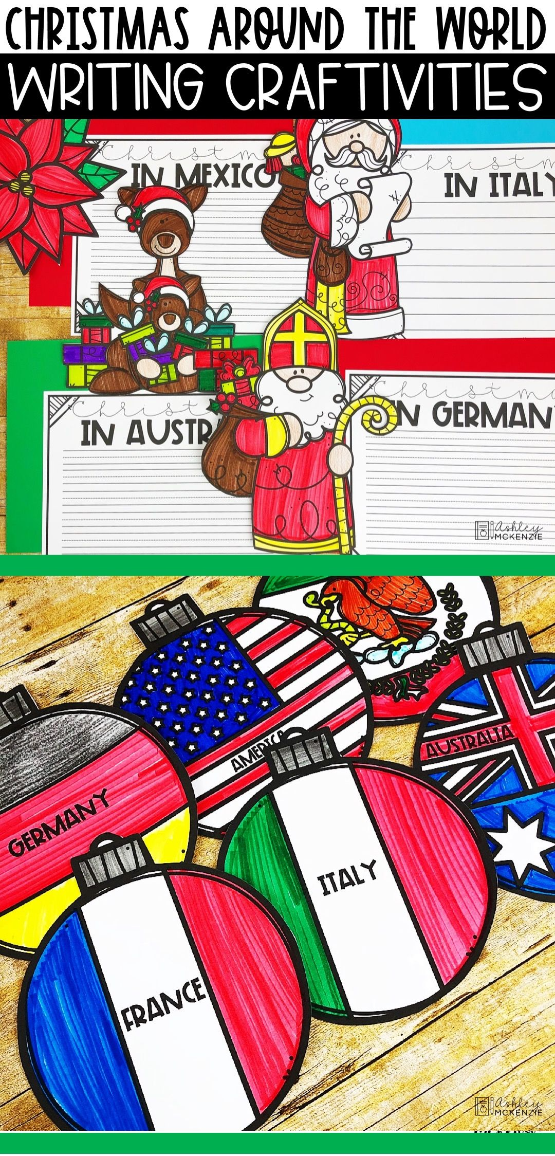 Christmas Around The World Writing Activities