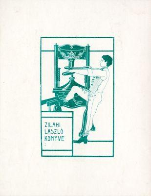 Ex libris by Kálmán Rozsnyay for Zilahi László, 1904