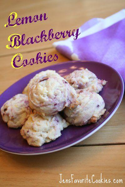Lemon Blackberry Cookies
