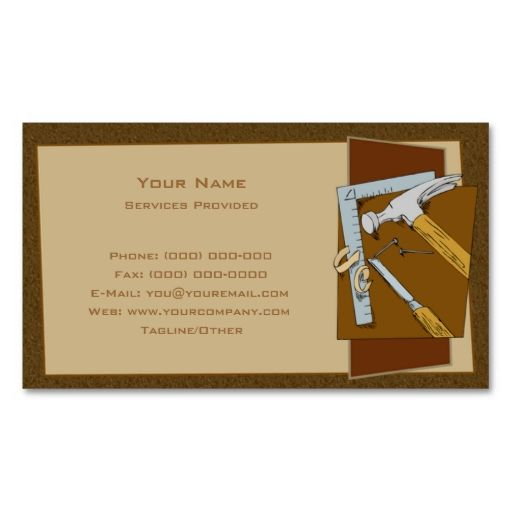 Carpenter Business Card Template I Love This Design It Is - Carpenter business card template