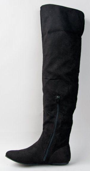 56ba8e4cbbc10 Amazon.com: Qupid PROUD-09 Cuff Over the Knee Thigh High or Knee ...