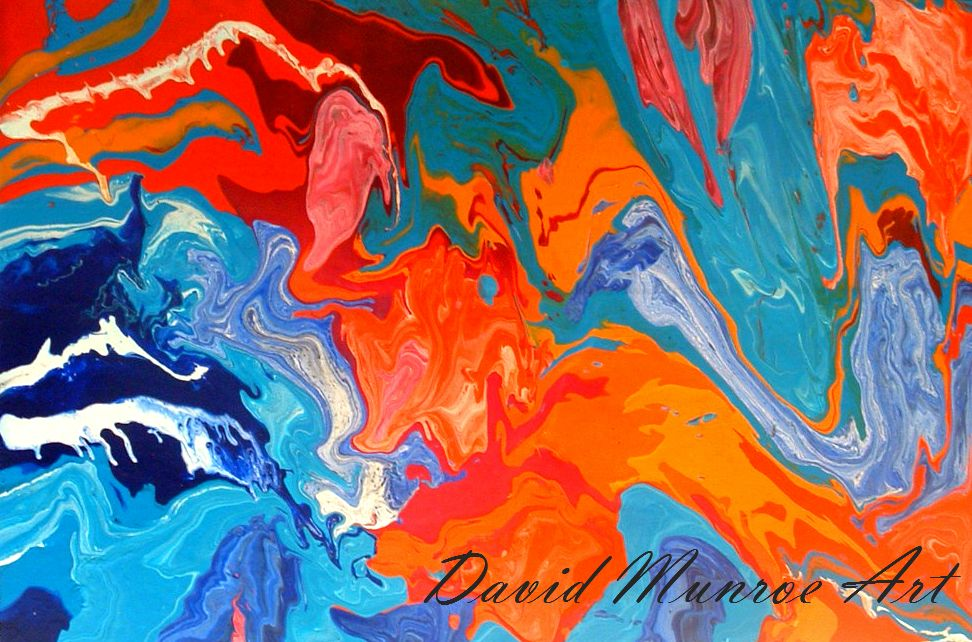 "Equinox  Part of my Meteorology Series, Inspired by Infrared Satelliete images of extreme weather conditions across the planet   Mixed Media on Canvas 20"" x 24""  Website - http://www.davidmunroeart.com/ . Facebook - https://www.facebook.com . Blog - http://www.davidmunroeart.com/blog.html"