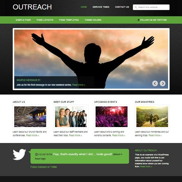 25+ Top Church Website Templates for Religious Websites #webdesign ...