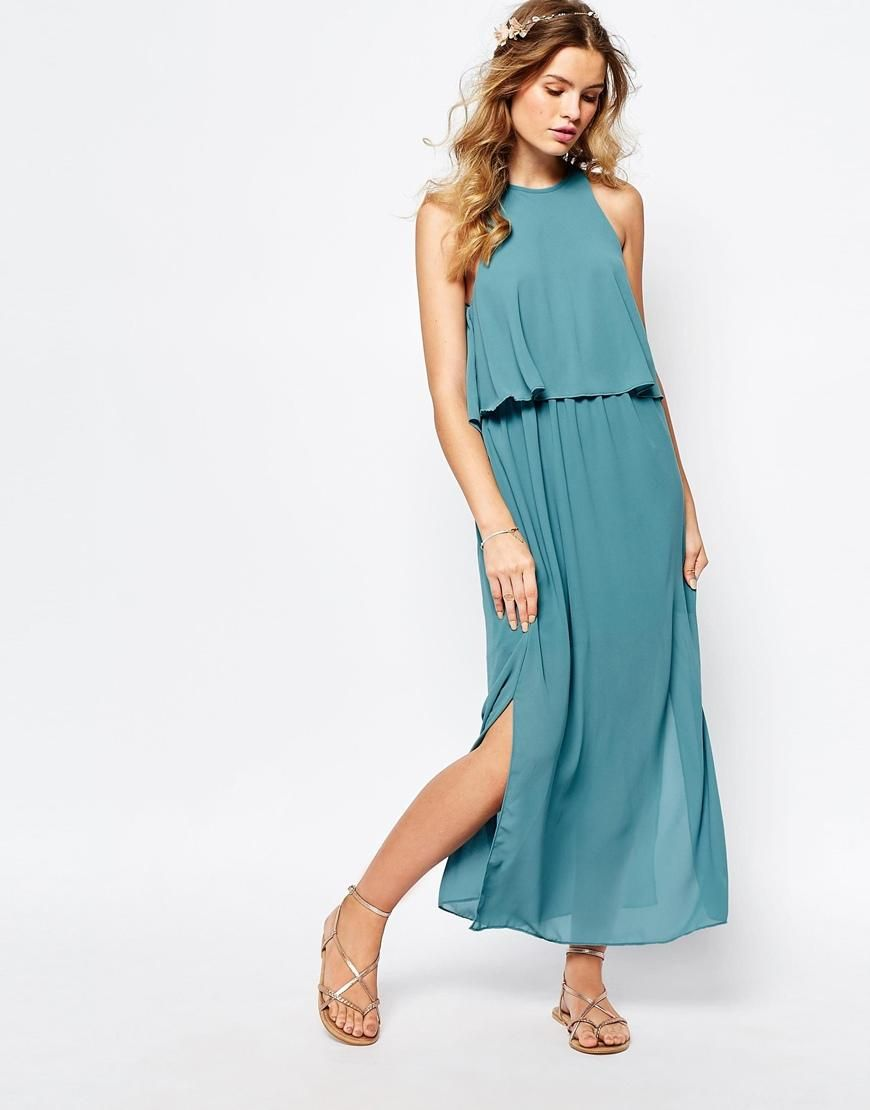 Darccy | Darccy Frill Layered Maxi Dress at ASOS | House Party Dress ...