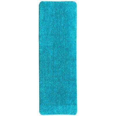 Ottomanson Luxury Blue Solid Shag Area Rug