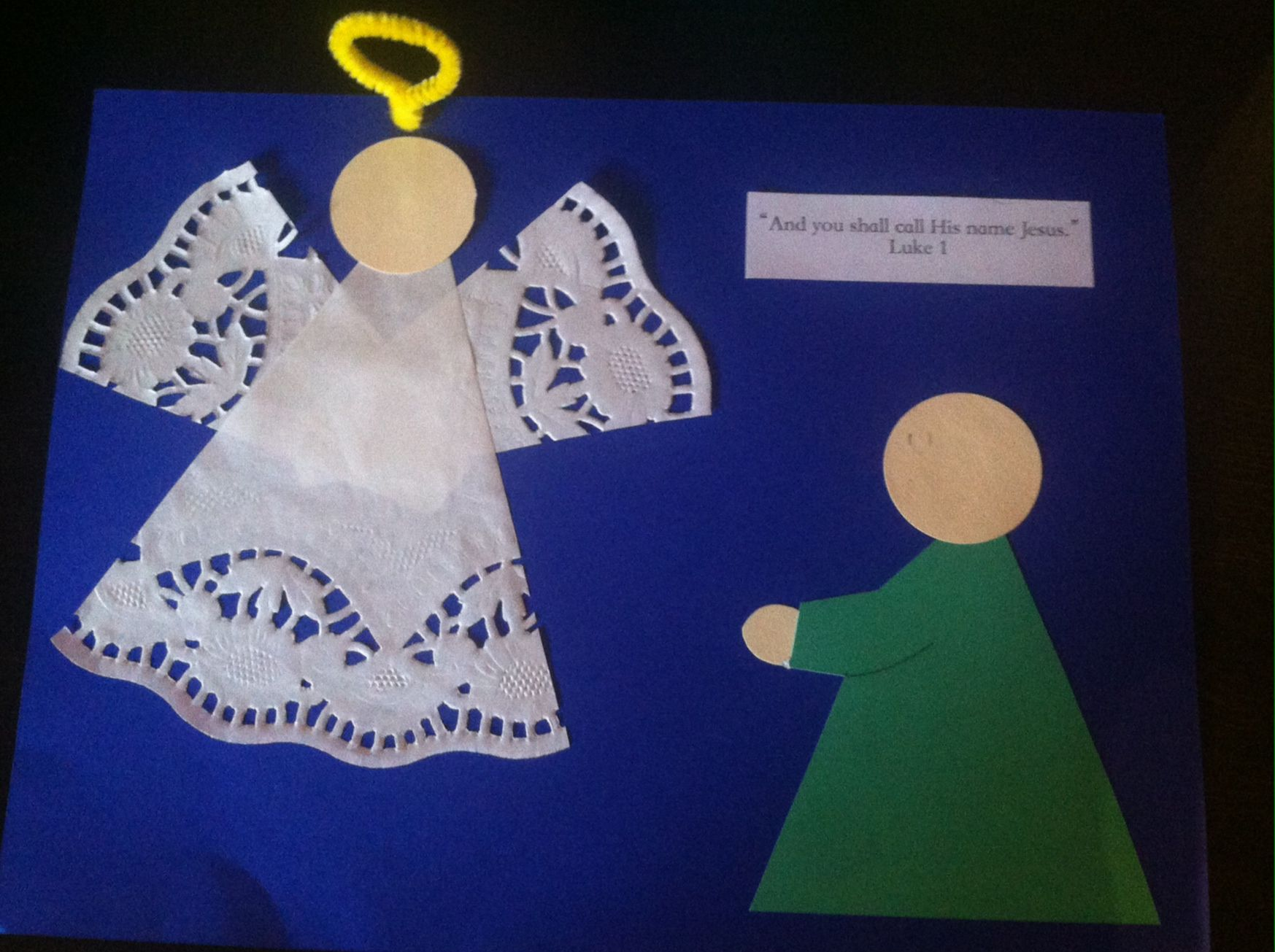 And You Shall Call His Name Jesus Simple Craft For Mary S Visit