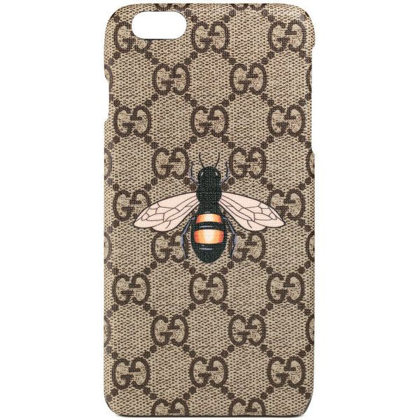 reputable site fbb1d bbdc5 Gucci Bee Print Iphone 6 Plus Case ($180) ❤ liked on Polyvore ...