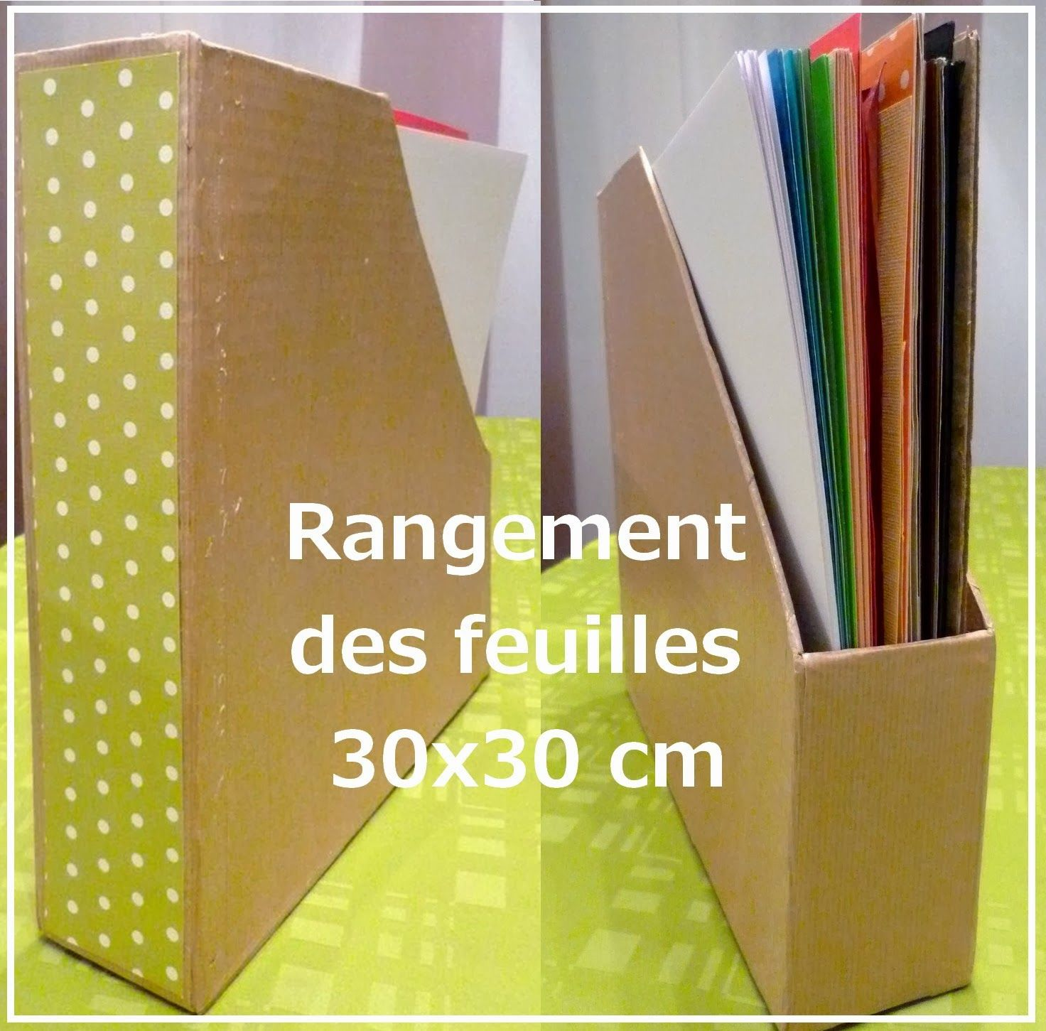 chez steph a scrap tuto rangement des feuilles 30 x 30cm fa on range revue compatible. Black Bedroom Furniture Sets. Home Design Ideas
