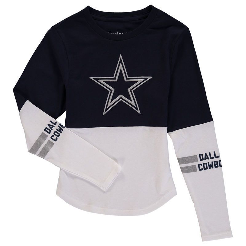 6c86e1195 Dallas Cowboys Girls Youth Carolyn T-Shirt - Navy. Find this Pin and more  on I Love Tee Shirts ...