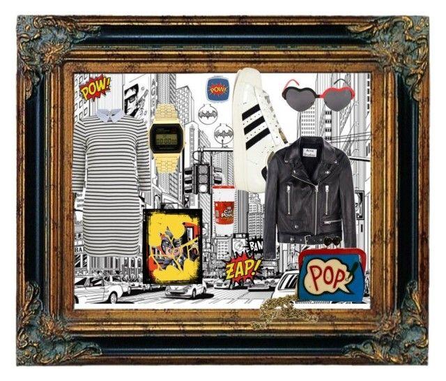 """Bez naslova #20"" by qoyqoyi ❤ liked on Polyvore featuring adidas Originals, Acne Studios, VILA, Topshop, Brighton, women's clothing, women, female, woman and misses"