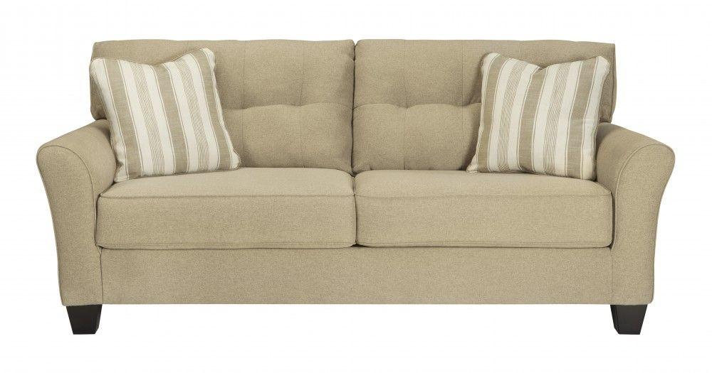 laryn  khaki  sofa  love seat furniture ashley