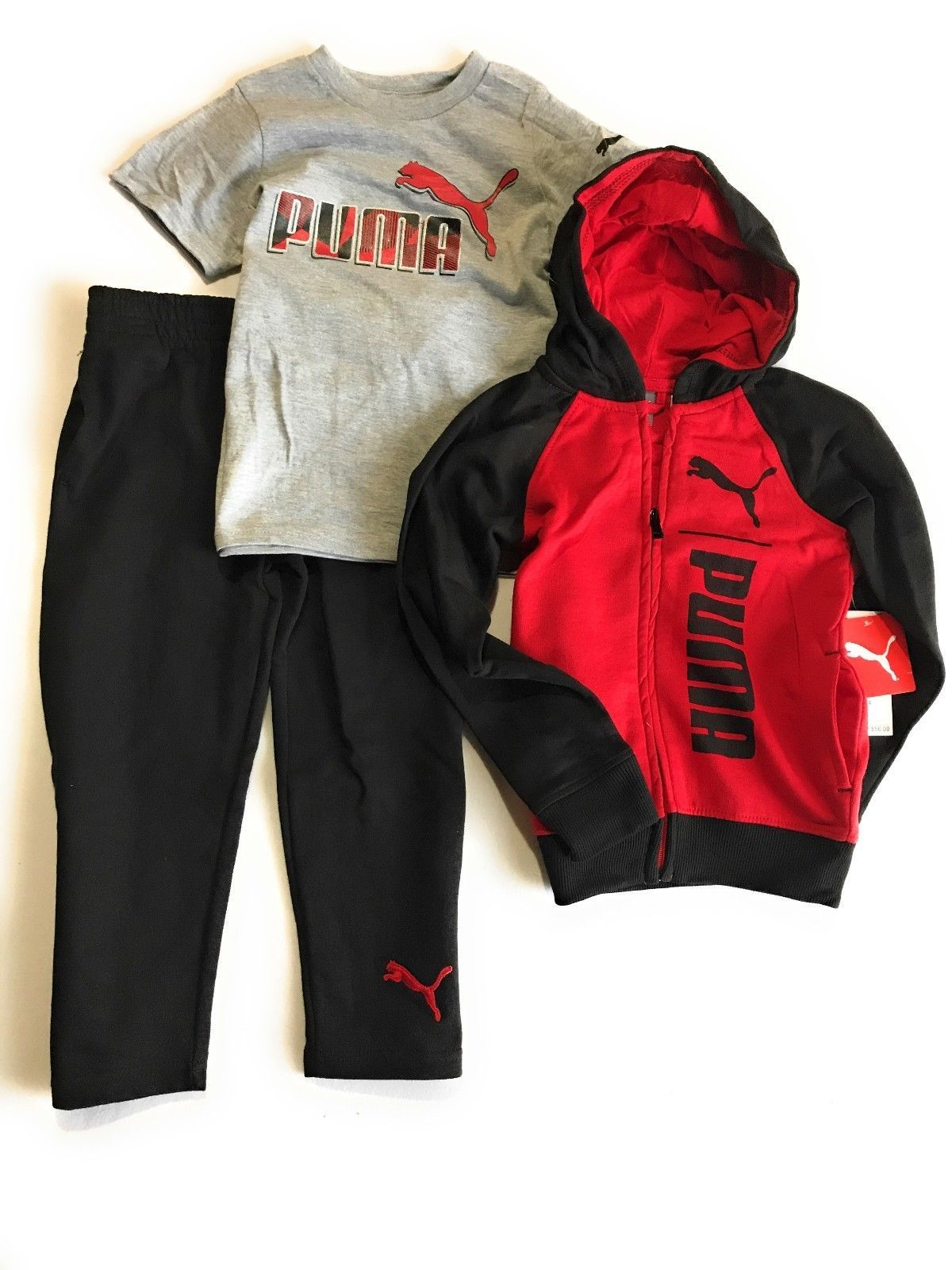 664a06c5aeb7 Outfits and Sets 156790  Puma Boys 3- Pieces Set Hoodie T-Shirt And Pants  -  BUY IT NOW ONLY   24.95 on  eBay  outfits  pieces  hoodie  pants