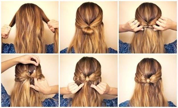 Photo of hvordan lage en bue fra håret