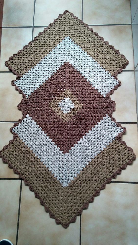 Granny Square Runner Pattern Diagram and Inspiration | crochet ...