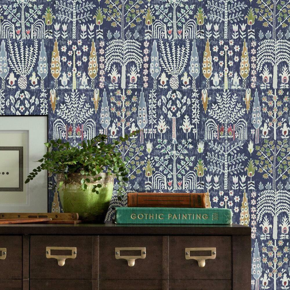 Persian Ikat Peel And Stick Wallpaper In 2021 Peel And Stick Wallpaper Room Visualizer Oriental Design