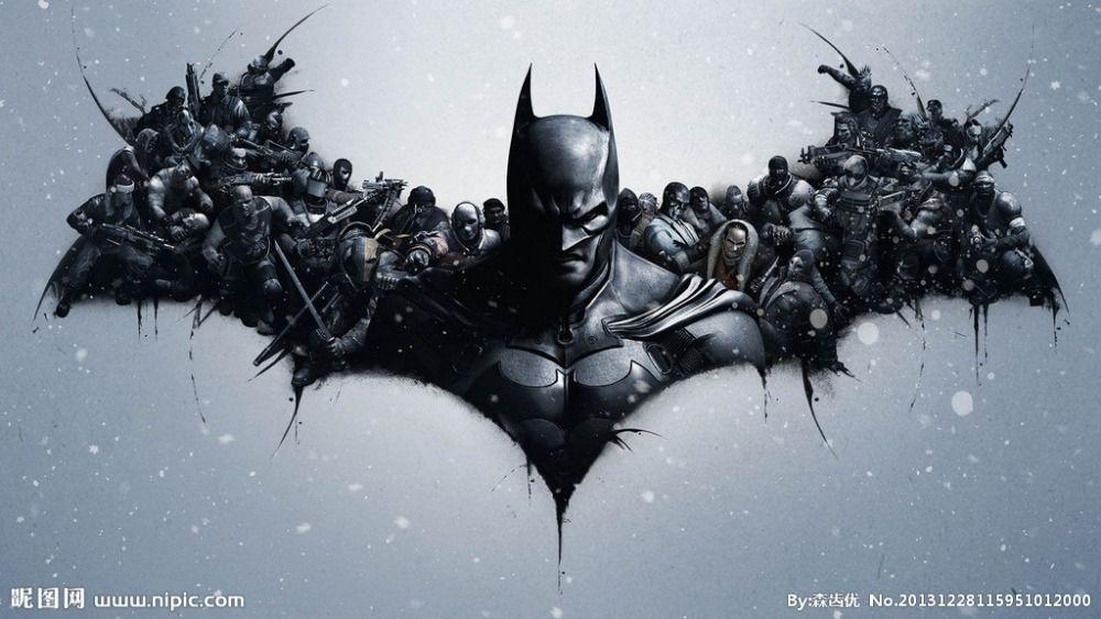 The Dark Knight Rises Batman Logo Wall Sticker Poster For Walls 24x36inch Free Shipping 1000x563