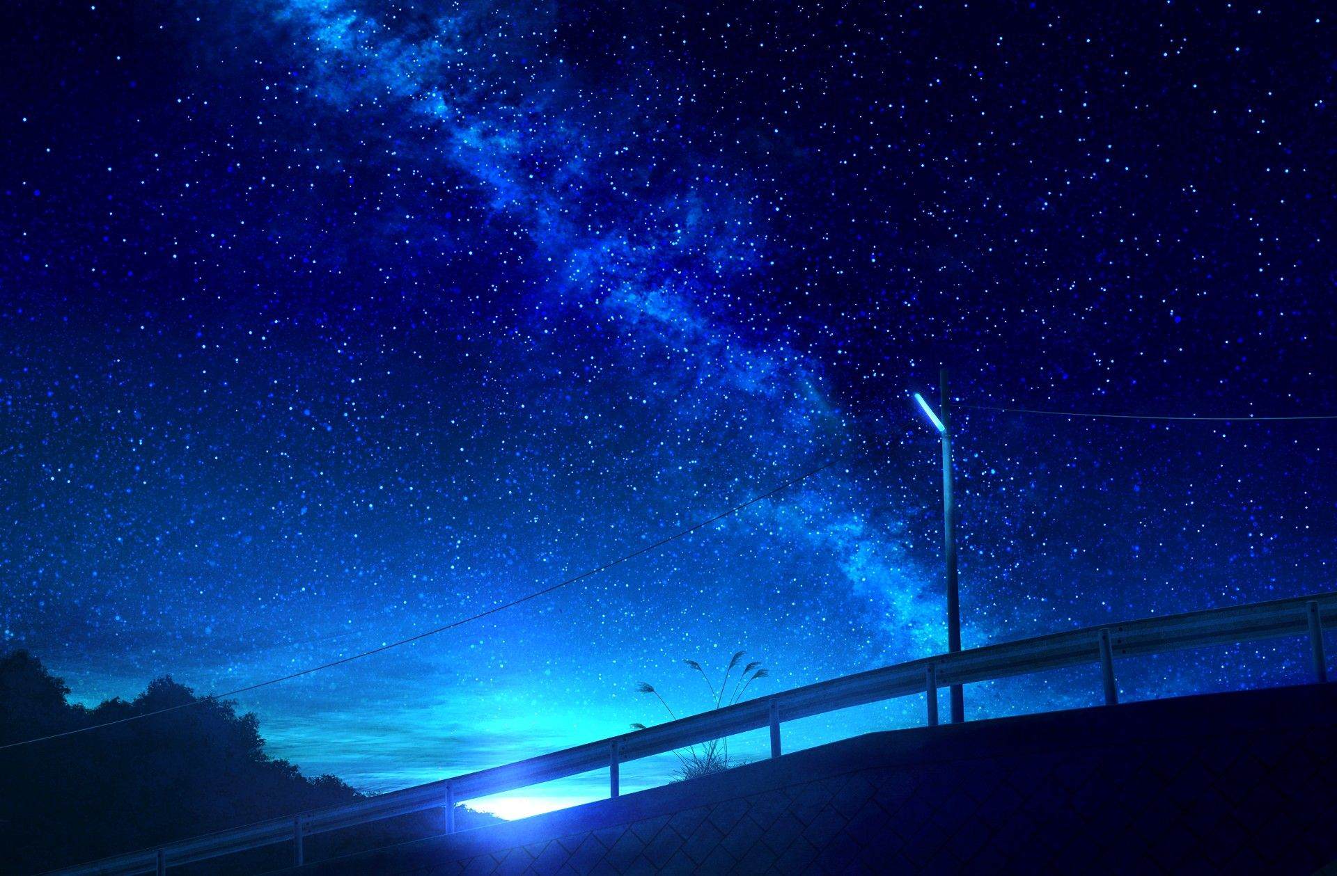 anime sky Wallpapers kawaii art view KurdishOtaku