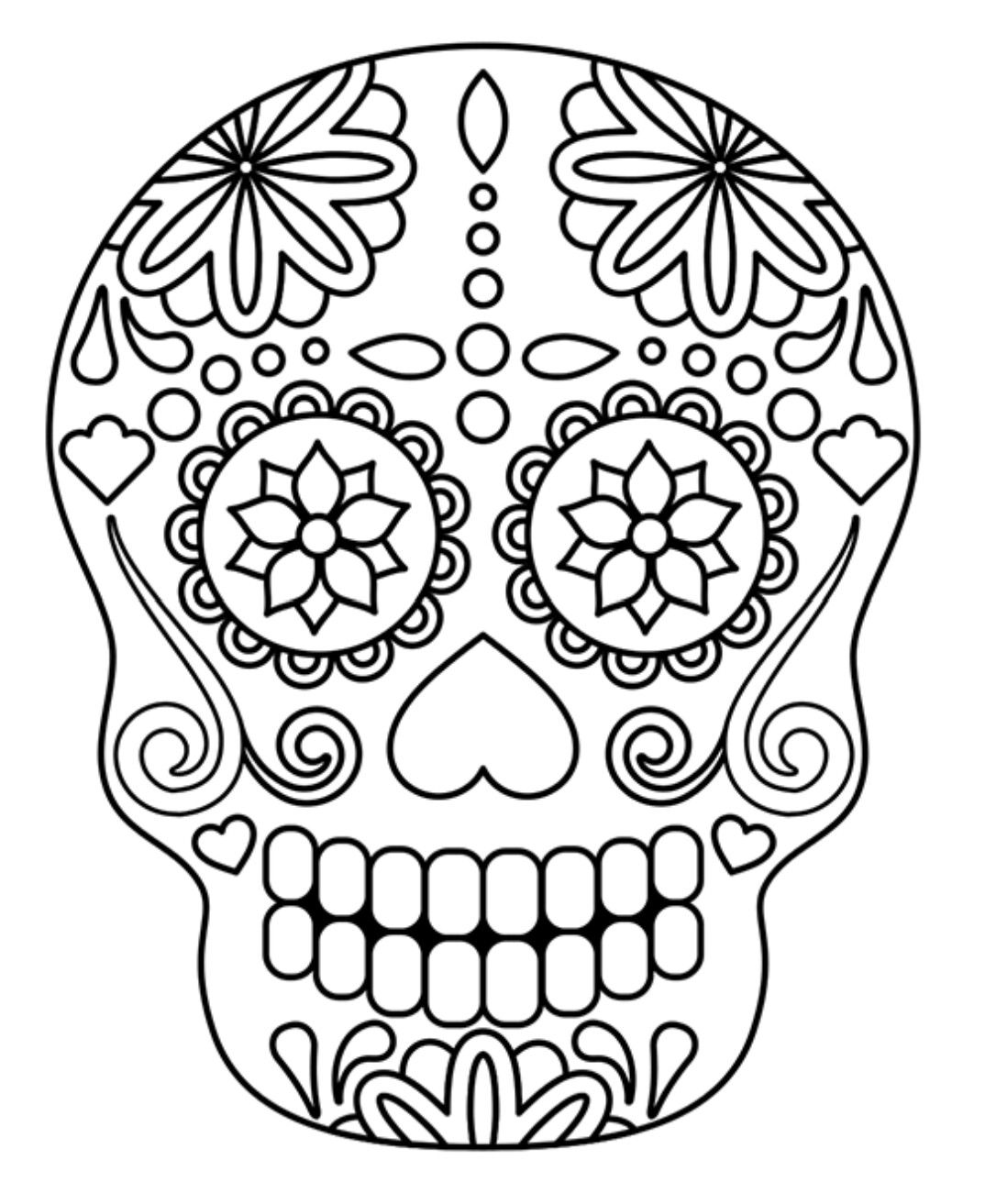 Pin By 1granny On Diy Or Paint Drawing Watercolor Skull Coloring Pages Halloween Art Sugar Skull Art