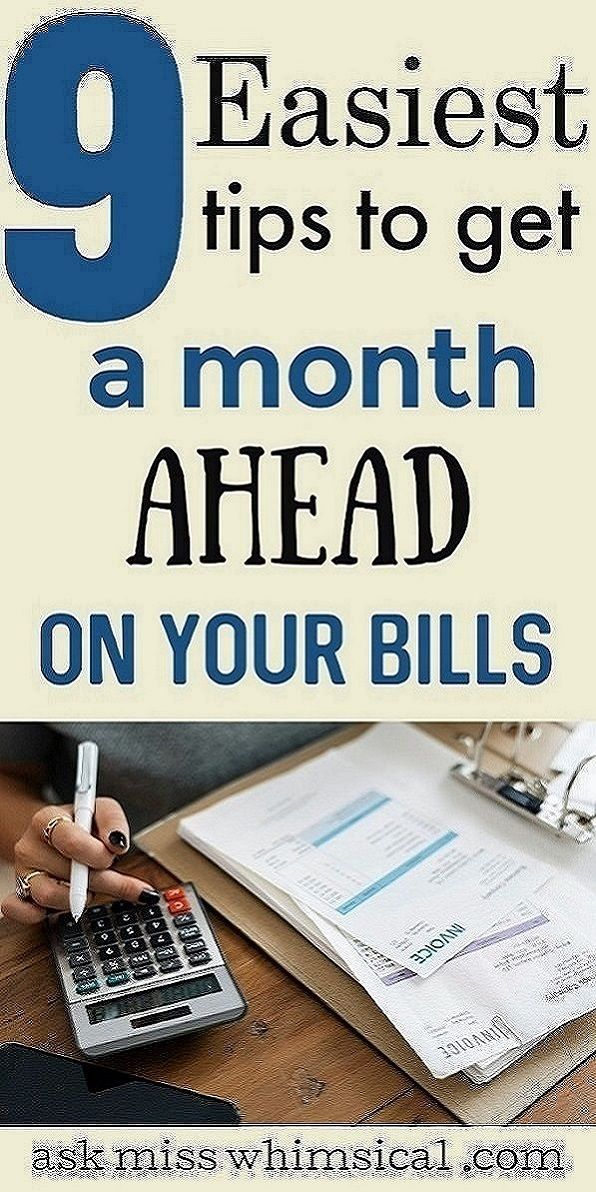 Click through to read the 8 simple tricks to get a month  ahead on your bills. You can stop living paycheck to paycheck in less than 30 days using these tips to get ahead on your bills even on a low income. You can live a financially free life if you are always ahead on your bills. Use these easy budgeting tips to get your finances in order and save money wherever possible. These frugal living tips will help you save money. #millennial #frugal #moneytips #personalfinance #moneymanagement