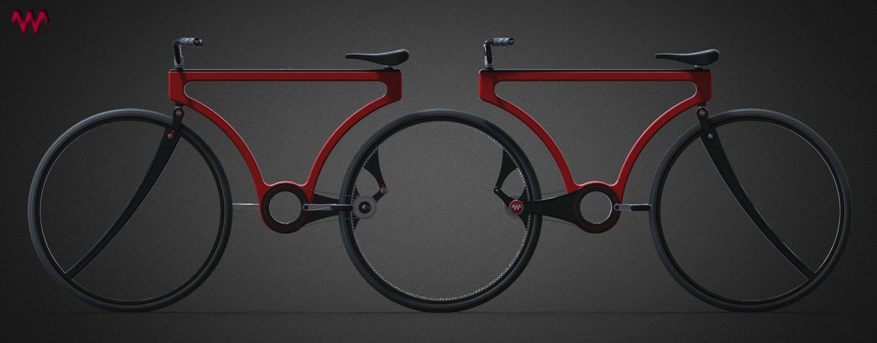 Concept for a contemporary simplistic bike that is capable of switching into tandem bikes on the fly. Great for couples! I'd prefer a better brake system though...