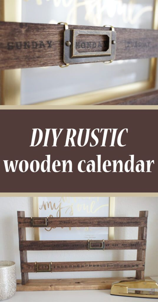 Rustic Wooden Calendar Wooden calendar, Perpetual calendar and