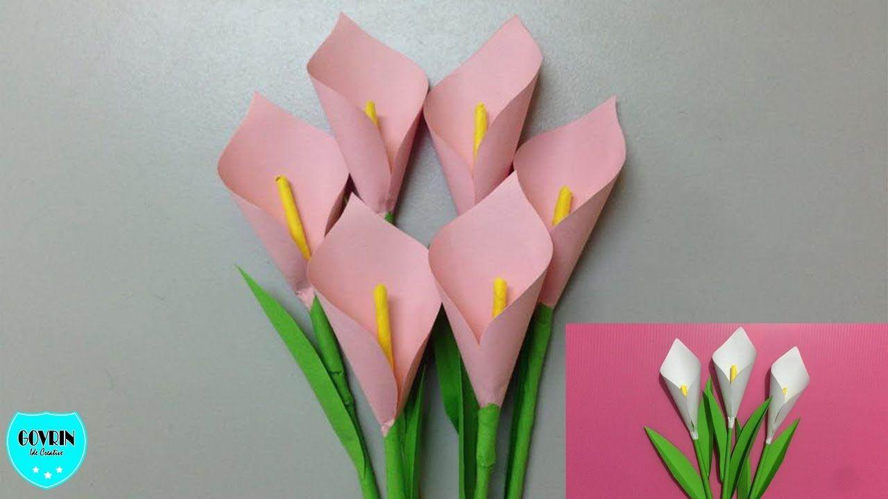 Ide Kreatif Cara Membuat Bunga Lily Cantik Dari Kertas Origami
