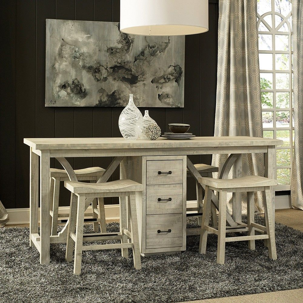 Wilmington Wood Rectangular Gathering Table In Sandal By Fairmont Designs