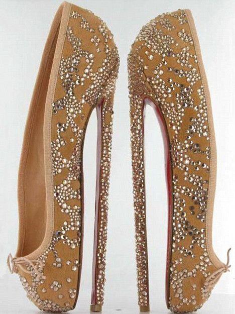 Christian Louboutin 8-Inch Stiletto/Ballet Flat Hybrid Shoe for English National Ballet. #a-mei-mei-zing