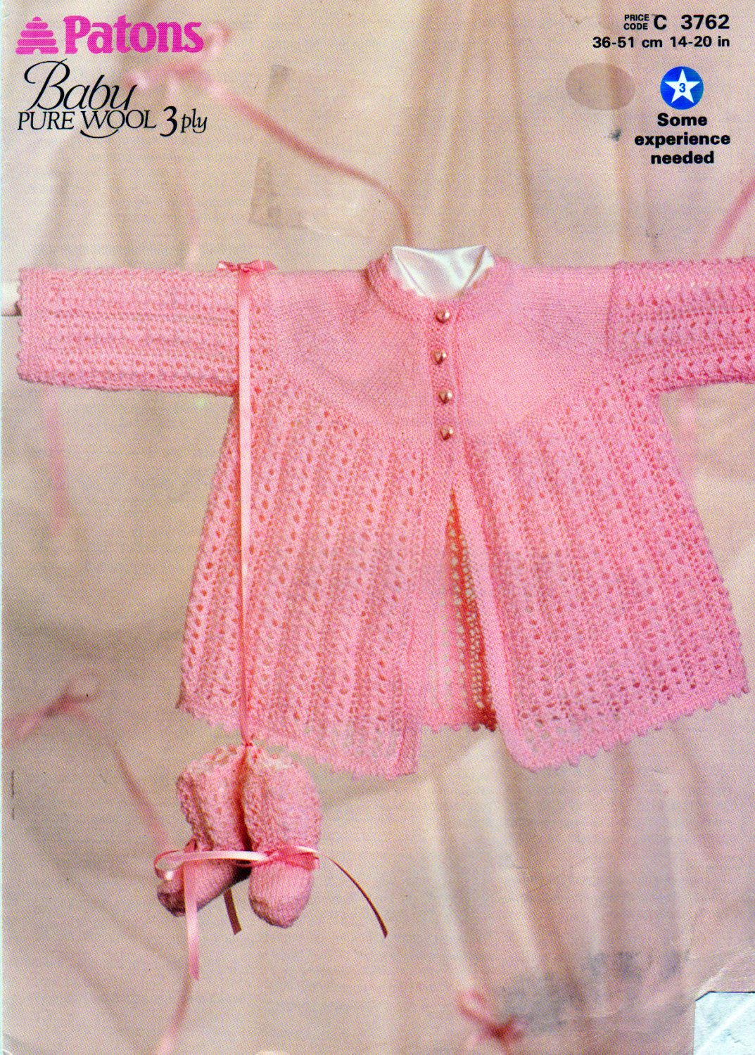 30baa8ae96a9 Paton s baby Matinee Coat and Booties Knitting Pattern