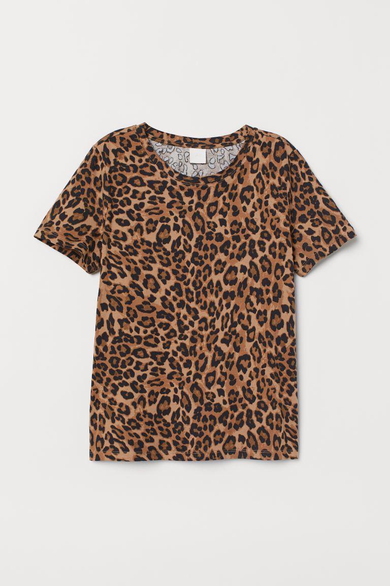 T Shirt White Palm Trees Ladies H M Gb Leopard Print Shirt Shirts T Shirts For Women [ 1152 x 768 Pixel ]