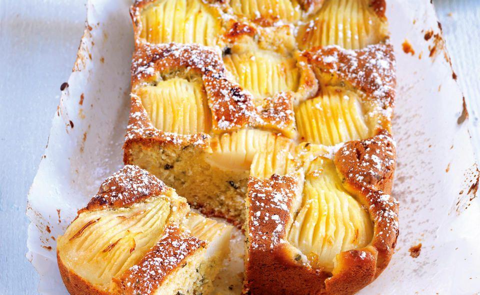 Birnenkuchen Mit Marzipan Rezept Rezept In 2020 Birnen Kuchen Essen Und Trinken Birnenkuchen
