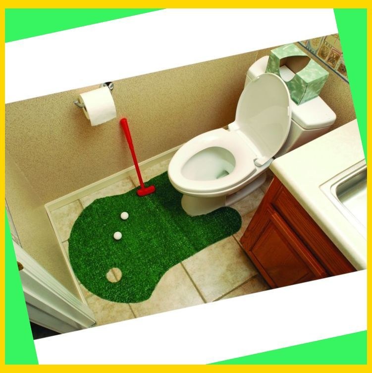 Bathroom Putting Green Golf Game (GREEN) | Golf Gifts ...