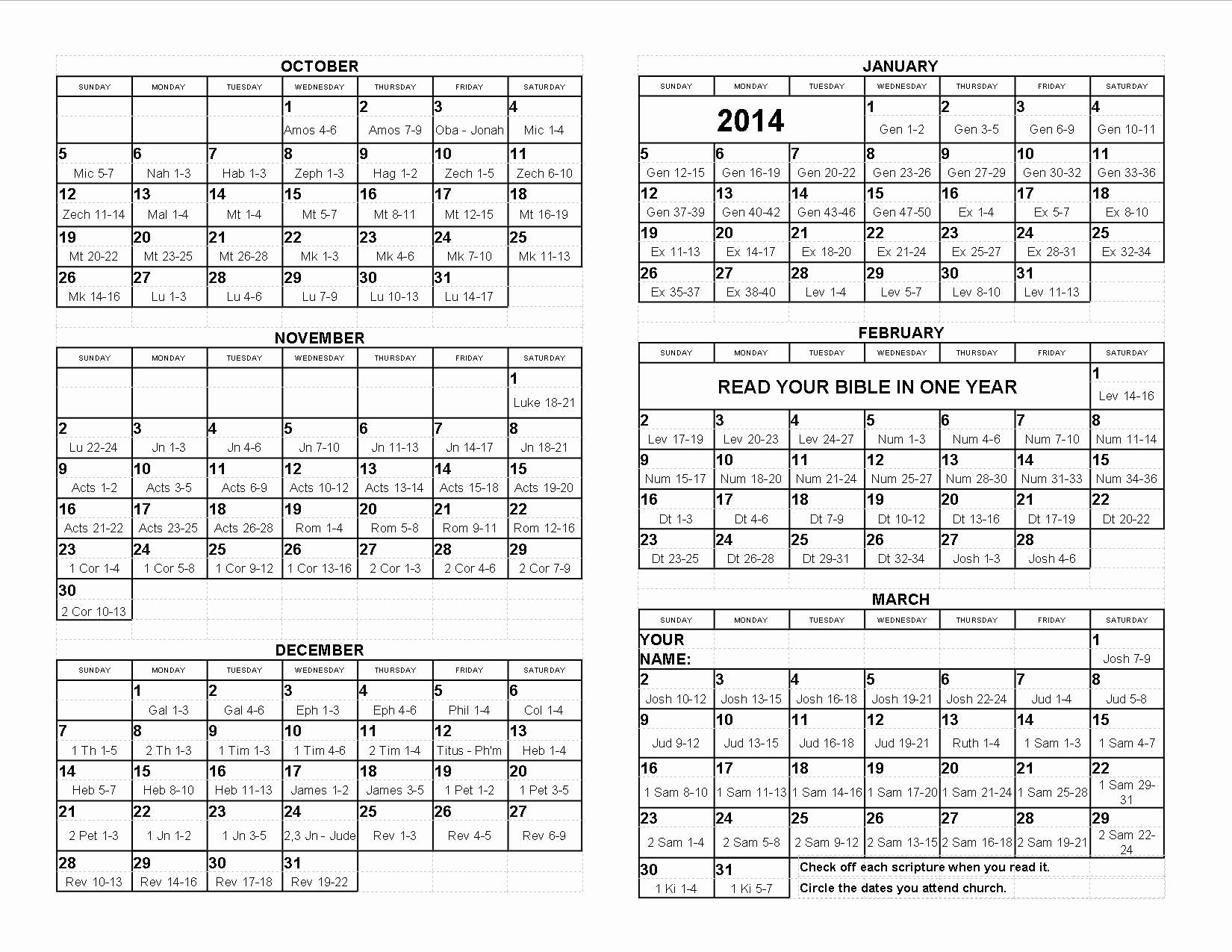 Fresh 59 sample read the bible in a year calendar