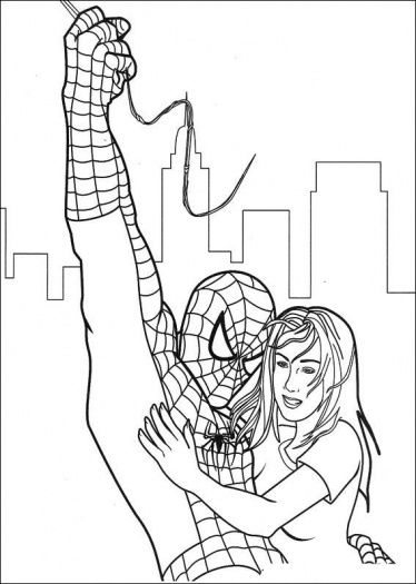 Spider Man Has Saved Gwen Stacy Coloring Page Free Printable Coloring Pages Spiderman Coloring Avengers Coloring Pages Superhero Coloring