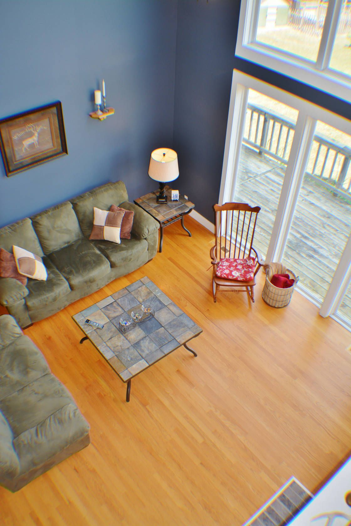 Living Room from Upstairs | Home decor, Home, Furniture