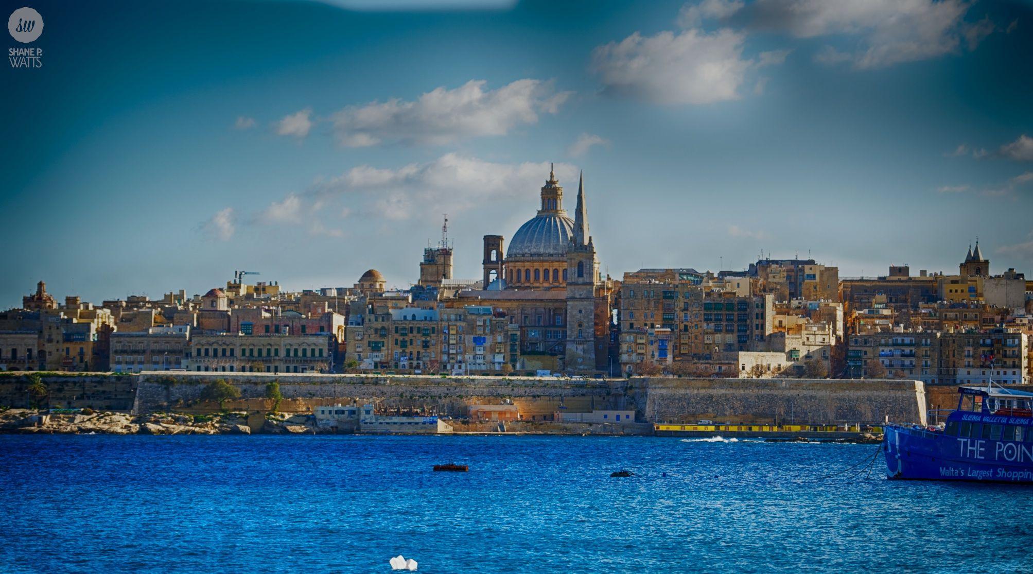 View of Valletta Harbour from Sliema - Malta