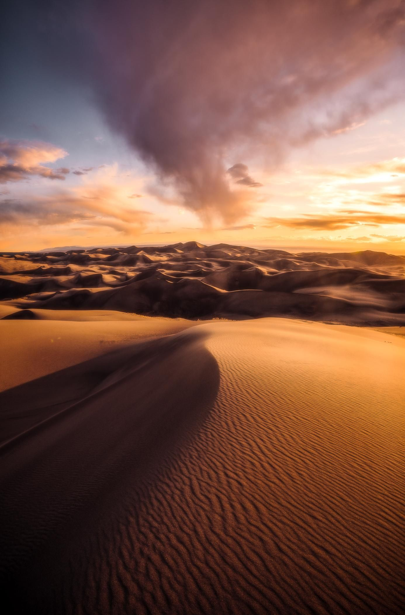 Spring Comes To Dunes >> A Spring Rain Storm Passes Over Colorado S Great Sand Dunes National